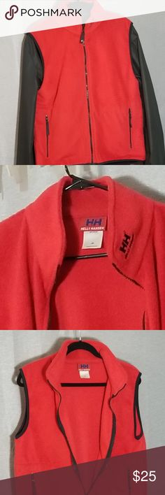 Helly Hansen Vest Brand: Helly Hansen  Description: Men's fleece vest  Color: Red  Size: Medium  Condition: Preowned Excellent Used Condition  Offers considered via offer button!  Discounts on bundles!! =)  Willing to entertain trades for items from: Supreme, VLone, Palace, A Bathing Ape, Bape, Aape, Off- White, Anti Social Social Club, Gucci, Louis Vuitton, The North Face, Jordan, Huf, Billionaire Boys Club, Mastermind Japan, FTP and more! Helly Hansen Jackets & Coats Vests