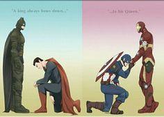 DCU - Clark Kent (Superman) x Bruce Wayne (Batman). Marvel - Steve Rogers (Captain America) x Tony Stark (Iron Man) Superman X Batman, Marvel Dc Comics, Marvel Avengers, Stony Avengers, Superfamily Avengers, Stony Superfamily, Marvel Funny, Tony Stark, Iron Man Capitan America