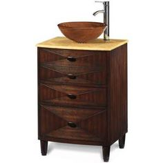 Home Decorators Collection - Kyoto 24 in. D Pedestal Sink Cabinet in Dark Brown Finish/Honey Marble Top - With a unique wood-grained pattern glass bowl, this Asian-style piece perfectly complements your minimalist decor. Bathroom Vanity Chair, Narrow Bathroom Vanities, Industrial Bathroom Vanity, Bathroom Vanity Makeover, Bathroom Vanity Cabinets, Large Bathrooms, Bathroom Furniture, Office Bathroom, Bathroom Ideas