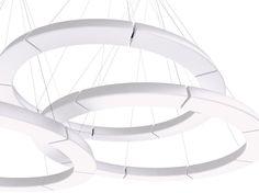 Modular Polyethylene Pendant Lamp CIRCULAR POL XXL Circular Pol Collection  By Martinelli Luce | Design Emiliana