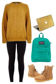 """Exam time! OOTD"" by kirathelovergirl ❤ liked on Polyvore featuring River Island, JanSport, Valentine Goods, women's clothing, women's fashion, women, female, woman, misses and juniors"