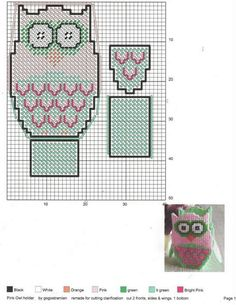Owl treat boxes Plastic Canvas Tissue Boxes, Plastic Canvas Crafts, Plastic Canvas Patterns, Owl Treats, Owl Basket, Plastic Canvas Christmas, Owl Patterns, Canvas Designs, Stuffed Animal Patterns