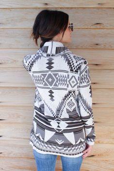 dc322a8e1dd Aztec Print Sweater Cardi – The Rollin  J Aztec Clothing