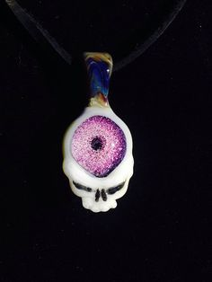 Grateful Dead Heady Glass Steal Your Face Pendant Third Eye  on Etsy, $68.00