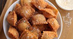 Receta de bocaditos de ravioli empanados