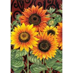 Sunflower Medley Flag