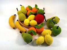 Obst für den Kaufmannsladen, 4-teiliges Set von Gruschtelbox auf DaWanda.com