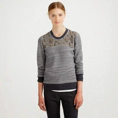 Obsessed with this J Crew sweatshirt! This and more on my list list now <3 handbagsandheartbeats.blogspot.com #jcrew