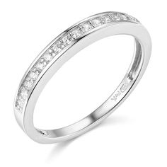 14k White Gold SOLID Wedding Band - Size 4.5