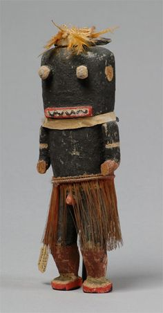 "Hu katsina ""probably circa 1900"" Hopi Hopi katsina (kachina) doll of Hu (Tungwup), probably circa 1900. The Hu katsina, also known as Tungwivkatsina, is a Whipper katsina who serves as a disciplinarian. He appears in pairs during the Powamuya ceremony with Angwusnasomtaqa (Crow Mother). Collected by Adam Clark Vroman."