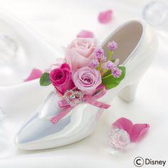 ディズニー プリザーブドアレンジメント「シンデレラの靴(スイートピンク)」