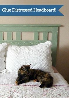 Add great texture to your bedroom with this DIY Glue DIstressed Headboard project this weekend. This step-by-step tutorial will show you how to achieve the perfect crackle look with Elmer's® glue.