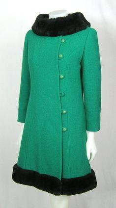 Lovely emerald green 1960's coat!