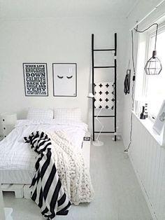 White bedroom ideas for girls black and white room design for girls Teenage Girl Bedrooms, Teen Bedroom, Dream Bedroom, Bedroom Decor, Bedroom Black, Master Bedroom, Monochrome Bedroom, Bedroom Furniture, Decor Room