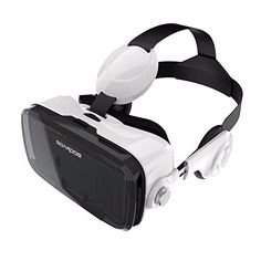 f669f6c83c18 awesome VR Headset VR Glasses Viewing Immersive Virtual Reality Headset  with Headphone for iPhone Plus - inches Android IOS Smartphones