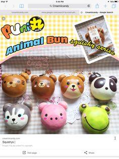 Puni Maru Animal Bun Squishy!Got to get it!From CreamiiCandy.