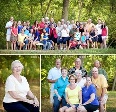 Bottom right, would be a good pose for parents two kids with spouse and then grandkids on bench