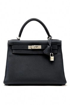 e09f8addd3f7c Hermès Kelly Bag    Black handbag with silver lock  Hermeshandbags Torba  Hermes