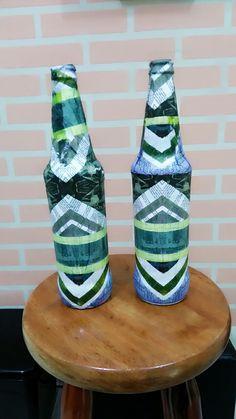 Garrafas decorativas Decoupage