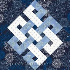 Name: 'Quilting : Eternity Knot Paper Pieced Quilt Block Quilt Square Patterns, Paper Piecing Patterns, Quilt Patterns Free, Wall Patterns, Pattern Blocks, Square Quilt, Free Pattern, Celtic Quilt, Quilting Projects