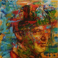 "Saatchi Art Artist: Rémi Jouandet; Acrylic 2013 Painting ""Portrait of Jack Nicholson"""