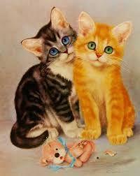 """Résultat de recherche d'images pour """"vintage cat art"""""""