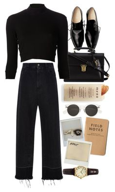 """Untitled #9891"" by nikka-phillips ❤ liked on Polyvore featuring Martha Stewart, Yves Saint Laurent, Again, Rachel Comey, Polaroid and Sekonda"