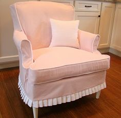Small Pink Denim Slipcover For Chair With Pillow Sure Fit Slipcovers Wing  Chair Sofa Lounge Covers Cushion Leather Couch Ikea Cover Denim Slipcovers  Couch ...