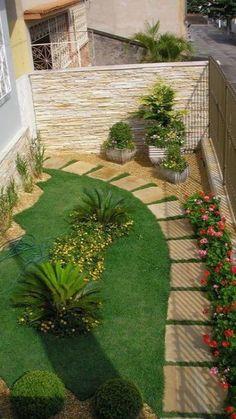 Small Yard Landscaping, Backyard Ideas For Small Yards, Backyard Patio Designs, Modern Landscaping, Patio Ideas, Diy Patio, Outdoor Ideas, Garden Ideas, Landscaping Design
