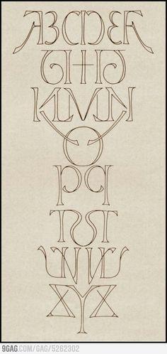 Pretty alphabet
