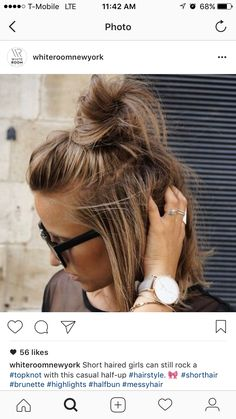 I hope so. I need my top knot. Watches, Hair, Accessories, Fashion, Hairstyle, Whoville Hair, Moda, Wristwatches, Fasion