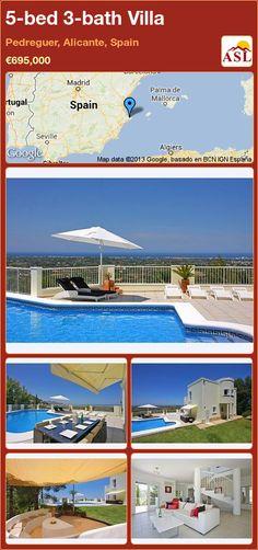 5-bed 3-bath Villa in Pedreguer, Alicante, Spain ►€695,000 #PropertyForSaleInSpain
