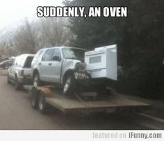 End of the world has begun, ovens falling from sky