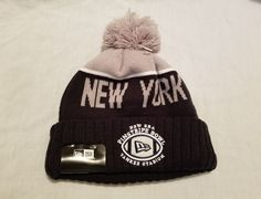 Adult New Era Pinstripe Bowl Yankee Stadium Beanie MLB Winter Hat One Size #NewEra