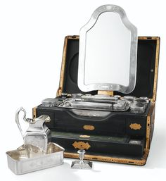 A LARGE FRENCH SILVER AND CUT-GLASS TOILET NECESSAIRE, JOSEPH DAUMAIN, PARIS, CIRCA 1845