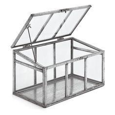 Fensterbank Gewächshaus  Höhe 15,5 cm, Breite 27 cm, Tiefe 15,5 cm. Gewicht 1,3 kg.