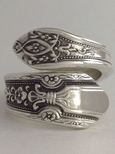 Size 7 Vintage Sterling Silver Towle Spoon Ring on Etsy, $66.99