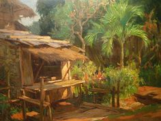 """Fernando Amorsolo y Cueto, Filipino painter, was an important influence on contemporary Filipino art and artists, even beyond the so-called """"Amorsolo school"""". Subjects: Philippine Genre, historical and society Portraits. Filipino Art, Filipino Culture, Fantasy Landscape, Winter Landscape, Painting Inspiration, Art Inspo, Munier, Philippine Art, Philippines Culture"""