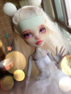 """OOAK Monster high Doll repainted by """"the cat's tea"""""""