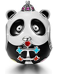 "NinaQueen ""Kung Fu Panda"" 925 Sterling Silver Enamel [Happy Family] Charms, Cute Animal Charms Ideal Gifts for Women and Girls  ASIN;  B01N13K9ZD MODEL# CSG05651BB BOX#X001BD0W8B"