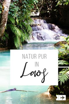 Kuang Si waterfall, Laos: Welcome to paradise! - Kuang Si waterfall, Laos: Welcome to paradise! The most beautiful and largest waterfall in Laos, ne - Luang Prabang, Laos Travel, Thailand Travel, Asia Travel, Vientiane, Vietnam, Asia City, Largest Waterfall, Les Continents