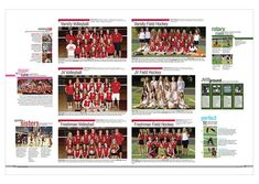 mclean high school 2013 athletics. i like the idea of putting specific news in the columns of teams (i.e. the digging for the cure snippit next to the volleyball team picture)