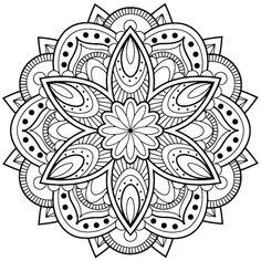 mandala blumen zum ausmalen ein bild mkt einer grossen mandala figur mit einer grossen weissen