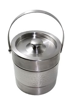 Hand Hammered Stainless Steel Double Wall Ice Bucket Double Wall Ice Bucket  #Buddha4all