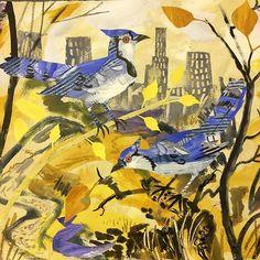 'Bluejays, The Rambles, Central Park' by Mark Hearld