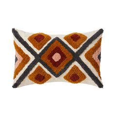 Transform your room with the beautiful Gibson Tufted Cushion. Features coloured tufting in a range of fun colours and designs. Blue Amber, Embroidered Cushions, Art N Craft, Pillow Protectors, Punch Needle, Dorm Decorations, Crochet, Design Elements, Throw Pillows