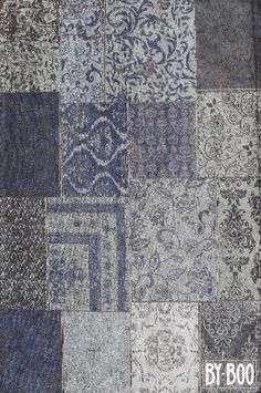 BY-BOO - Carpet Patchwork Donkerblauw