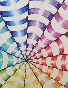 Op art colorwheel 7th grade Lowell Middle School Art Ed Central