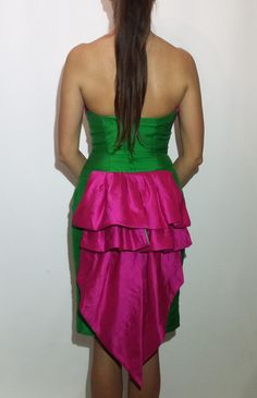 Cute Extravagant Retro Dress / Vintage Events Mermaid Dress / Woman Sexi 90s Dress / Party Evening Dress / 90s Girls Artist Evening Dress