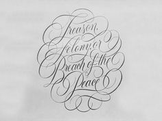Breach of Peace Sketch designed by Ryan Hamrick. Brush Lettering Quotes, Calligraphy Quotes, Graffiti Lettering, Calligraphy Alphabet, Script Type, Monogram Design, Sketch Design, Zentangle, Tattoo Designs